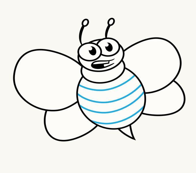Cách vẽ Cartoon Bee: Bước 12
