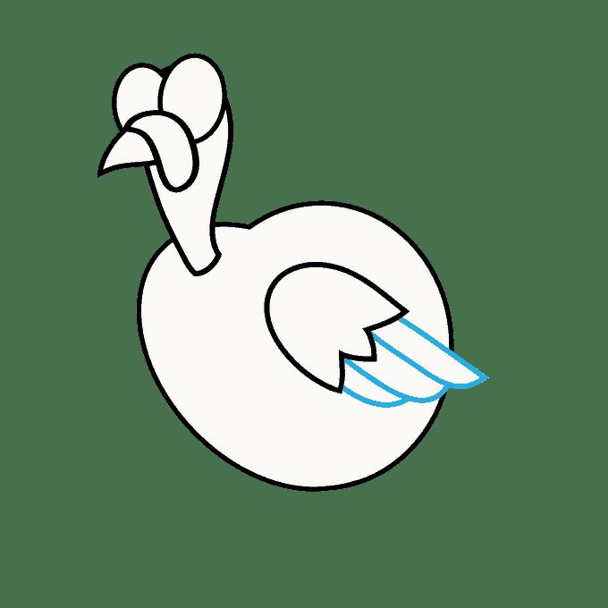 Cách vẽ Gà Tây: Bước 10