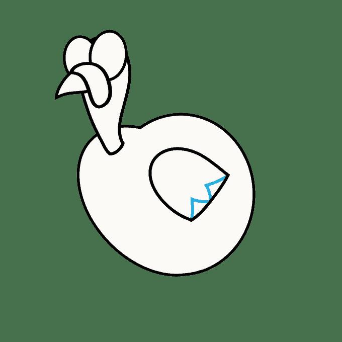 Cách vẽ Gà Tây: Bước 9