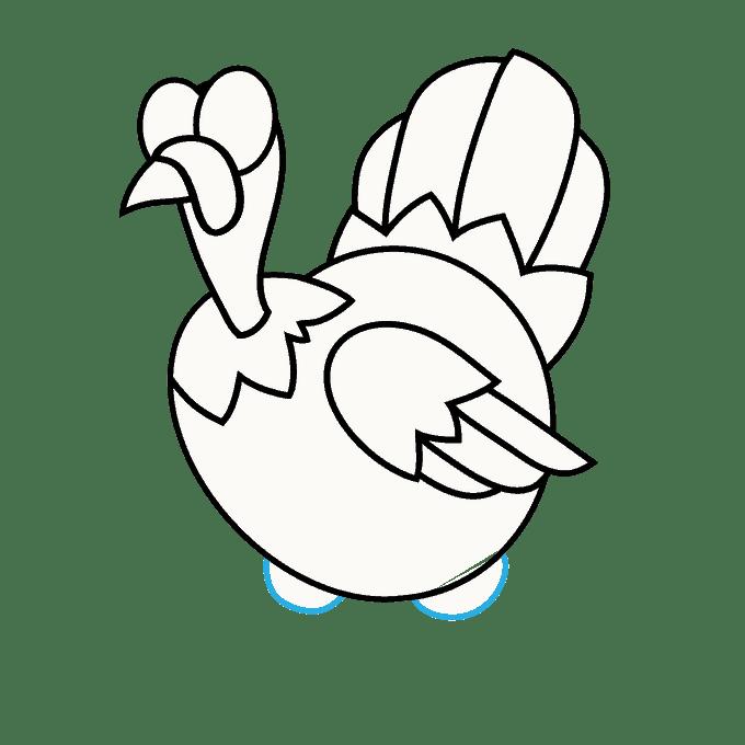 Cách vẽ Gà Tây: Bước 15