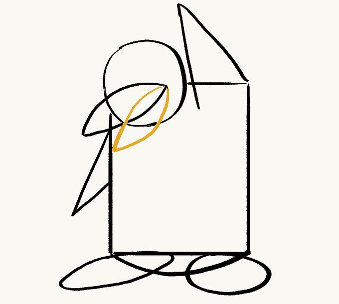 Cách vẽ Chim Cánh Cụt: Bước 7