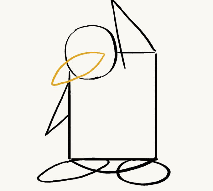 Cách vẽ Chim Cánh Cụt: Bước 6