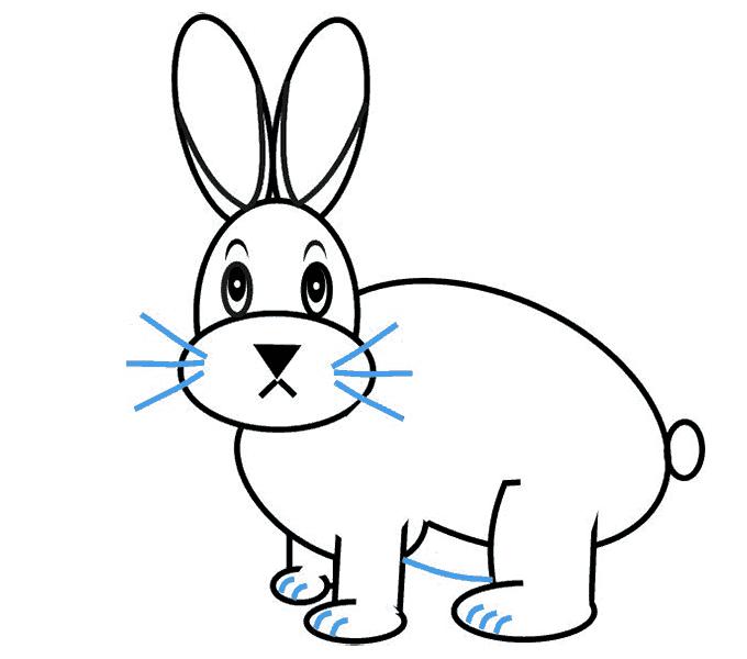 Cách vẽ Bunny: Bước 11